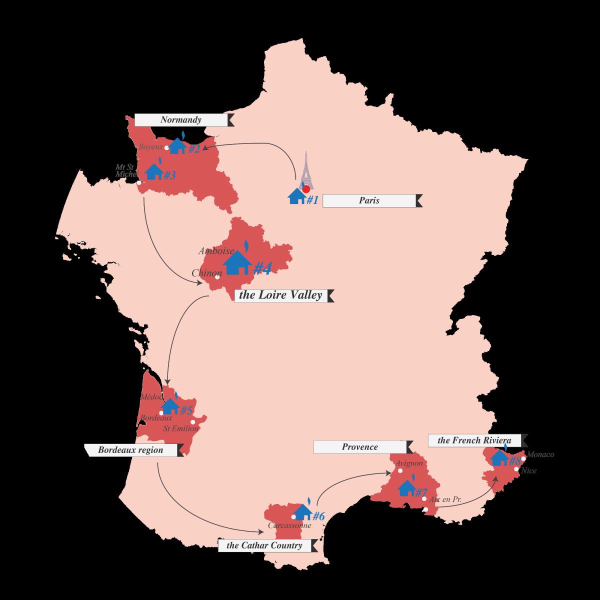 Carte Bordeaux Unesco.26 Days In Paris Normandy Loire Valley Bordeaux Carcassonne
