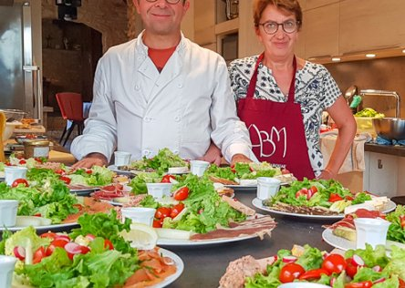 cooking at your hosts in Dordogne