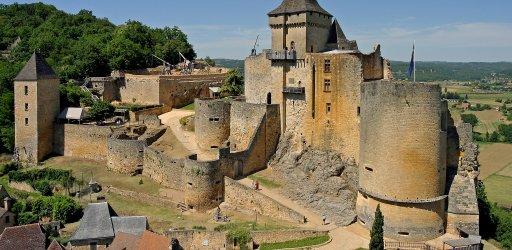 Middle Ages castle in Dordogne