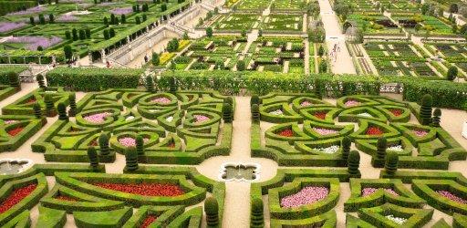Villandry French style gardens