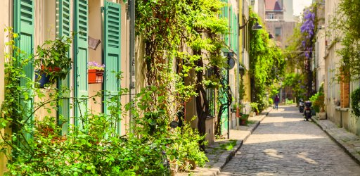 You may not believe it but this is a Paris street...