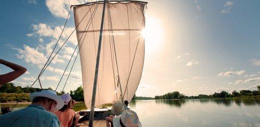 Gabarre boat on the Loire river