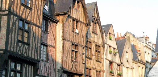 Half timbered houses in the Loire Valley