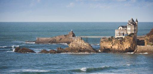 Vigens Rock - Rocher de la Vierge in the Basque Coastline