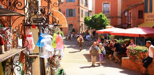 In Roussillon town